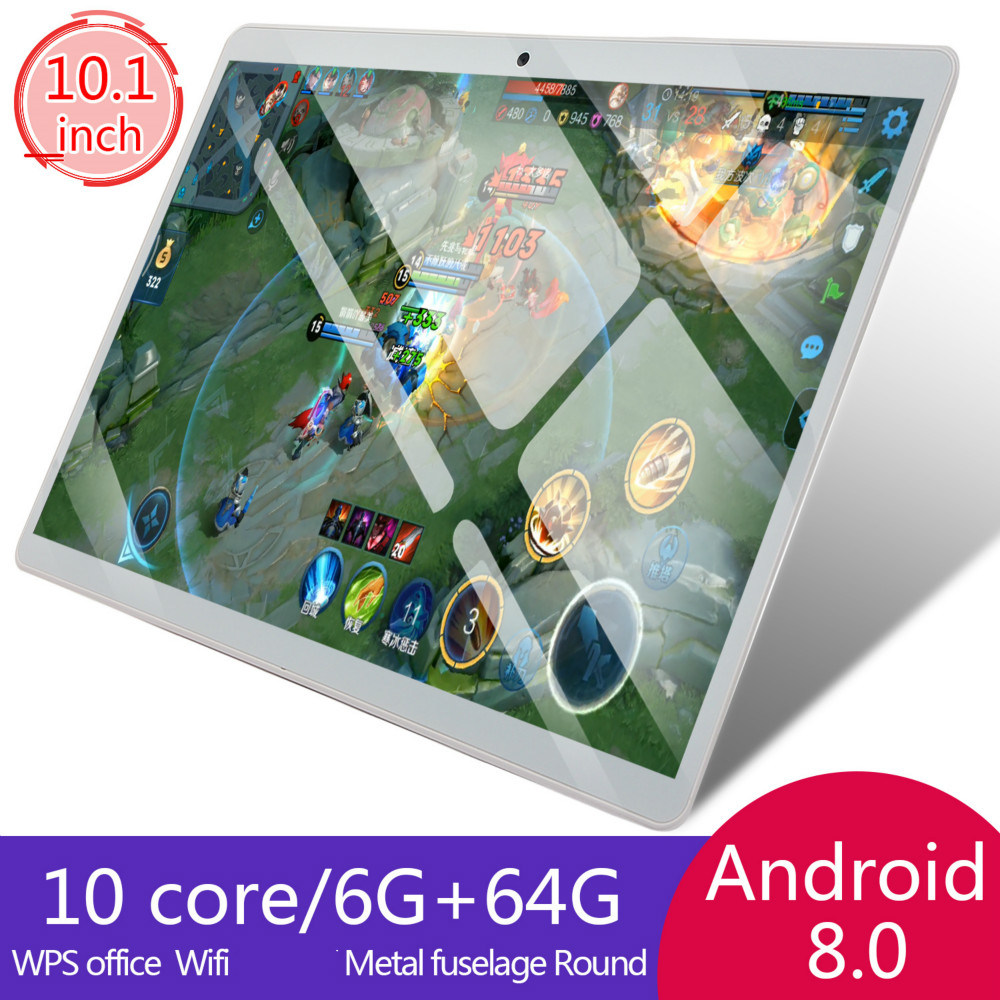 2020 10 Inch Tablet PC 3G/4G Android 8.0 Octa Core Super Tablets Ram 6G+64G WiFi GPS 10 Tablet  SIM GPS