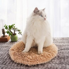 USB Pet Electric Heating Pad Blanket Cat Warm Heated Pad Anti-scratch Dog Heating Mat Soft Long Plush Sleeping Bed For Winter square multifunctional plush heated electric blanket pet heating pad safety thermostat warm carpet heating office chair cushion
