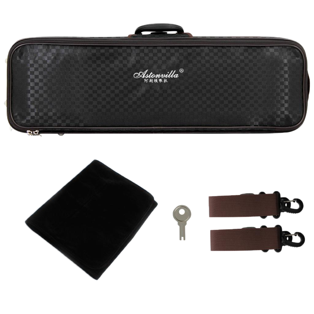 Portable 4/4 Violin Case / Violin Case / Violin Case / Violin Case, Waterproof, With Lock And Shoulder Strap, 800x260x140mm