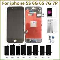 SYART 100% probado pantalla LCD para iphone6S pantalla táctil digitalizador LCD para iphone7 pantalla para iphone5 6 6S 6SP 7 7P LCDs