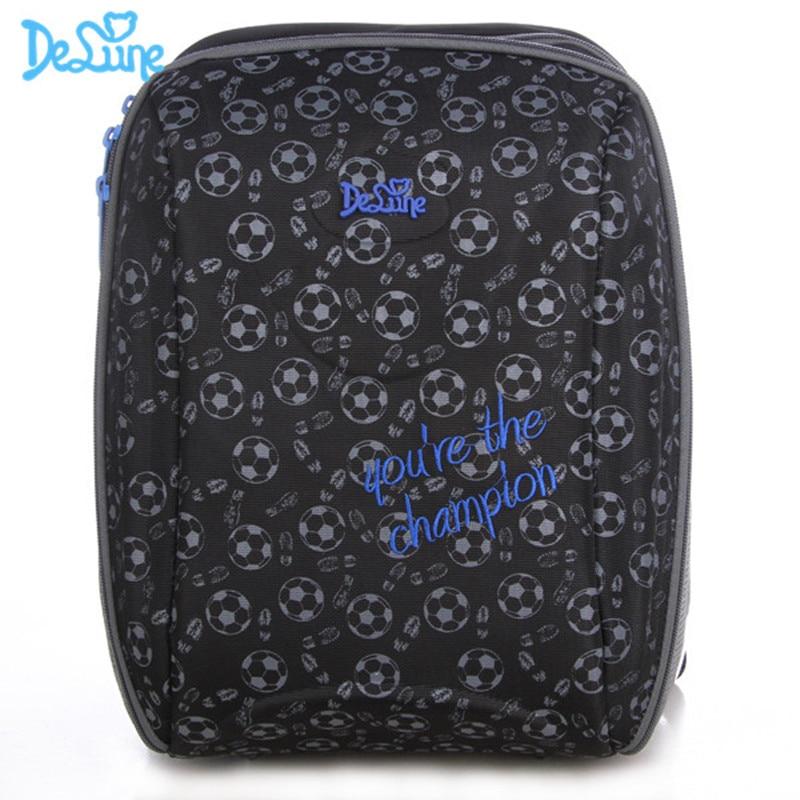 Delune Brand Girls Boys Schoolbag 5 9 Years Kids Grade 1 4 School backpack Children 3D