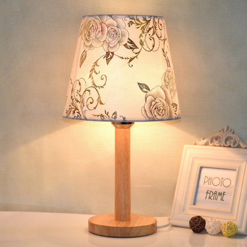 Led Table Lamp For Bedroom Living Room Wood Bedside Lamp Art Deco Desk Lamp Christmas Decoration Home Lampe De Chevet De Chambre