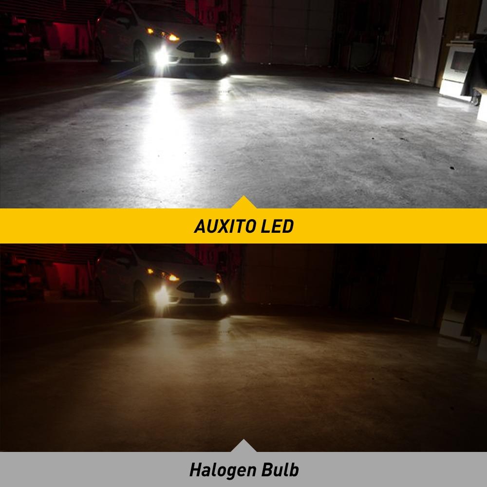 AUXITO 2x 2000LM H8 H11 H16JP LED Canbus 9005 HB3 9006 HB4 LED Fog Lamp For BMW VW Benz Audi A3 8P A4 B8 B6 A6 C6 C7 BMW E60 E90 3