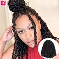 Самкоса 8 дюймов весенние вьющиеся волосы крючком косички Омбре Наращивание волос Синтетические плетеные волосы для женщин пушистый твист