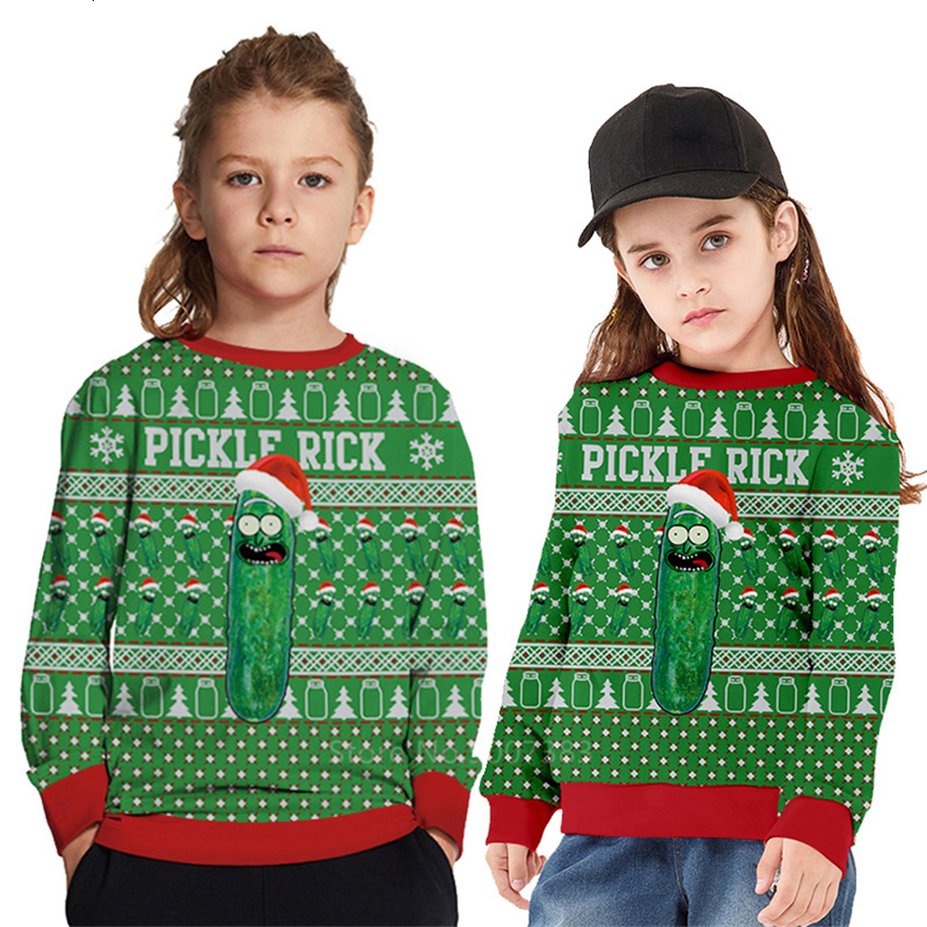 Childrens Snowflake Sweater Boys Girls Printed Sweater