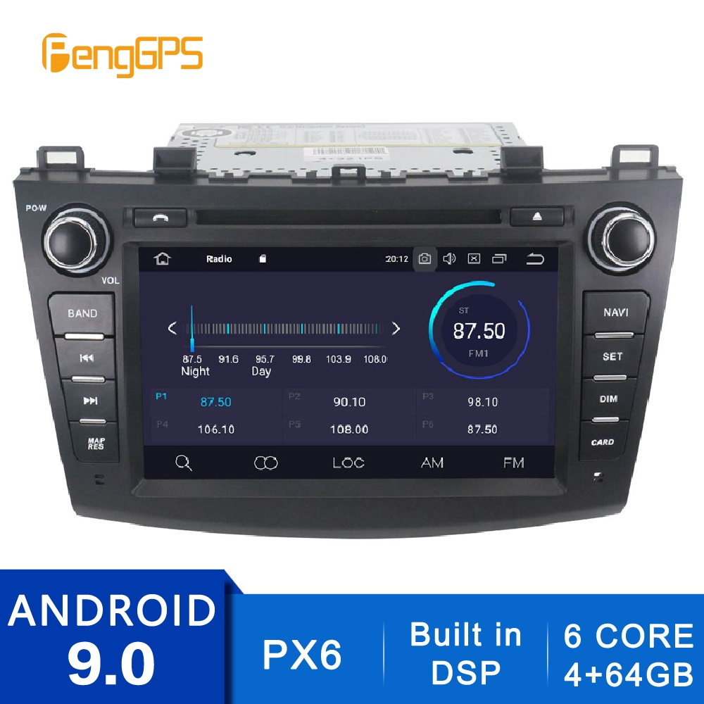 2 Din Stereo Android 10.0/9.0 Car Radio for <font><b>Mazda</b></font> <font><b>3</b></font> Axela 2009-2012 <font><b>GPS</b></font> <font><b>Navigation</b></font> CD DVD Player with Bluetooth DSP FM/AM Unit image