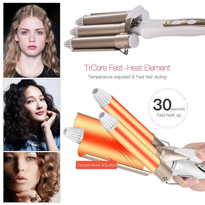 Modelador de cabelo curling ferro cinco barris