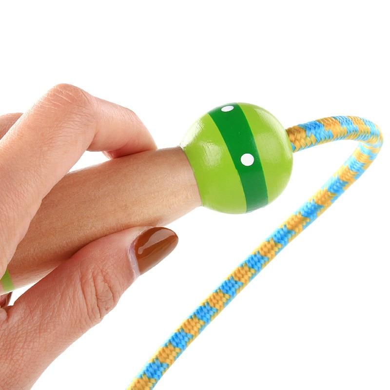Sports Supplies Jump Rope Beginner Adjustable Children Young STUDENT'S Kindergarten Wooden Toys Unisex Kids
