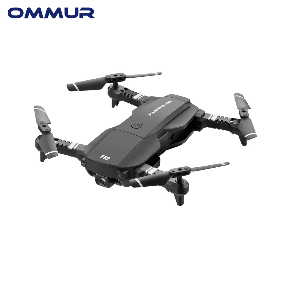OMMUR F62 Protable Folding Mini Drone 4K HD Pixels Dual Camera-Visual Follow Gesture Control VR Mode Light Flow Positioning