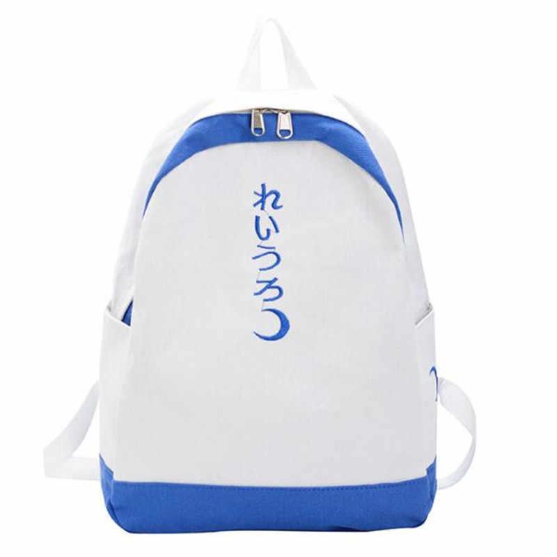 2020 nowe japońskie płótno w stylu solidny kolorowy plecak mały świeży haftowany plecak alfabet w stylu Harajuku student schoolbag