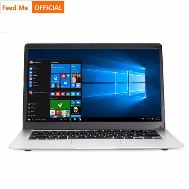 Student Laptop 14.1 Inch Windows 10 Intel Quad Core 4 Gb Ram 256 Gb Ssd Notebook Met Wifi Bt Webcam voor Films Werk Internet
