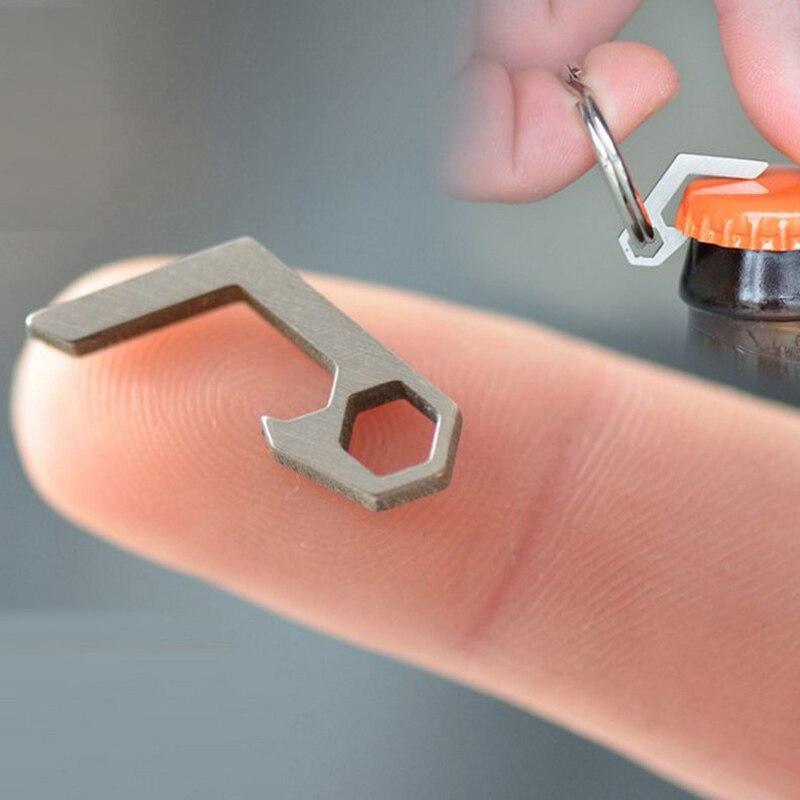 New EDC Gear Mini Lightweight Bottle Beer Opener Keyring Pocket Tool Utility Gadget Outdoor Camp Hike