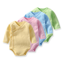 Newborn Baby bodysuits Cotton Long Sleeve Underwear Jumpsuit Candy color Boy Girl soft climbing clothes