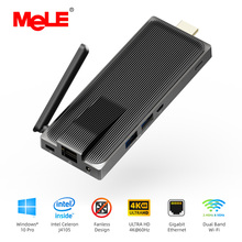 Intel Celeron J4125 Quad Core 8GB 128GB Fanless Mini PC Windows 10 Pro PC Stick Mini-Computer HDMI 4K 2.4/5GHz WiFi Gigabit LAN