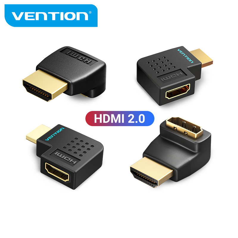 Vention HDMI Adapter 270 90 Degree Right Angle HDMI Male to HDMI Female Converter for PS4 HDTV HDMI Cable 4K HDMI 2.0 Extender
