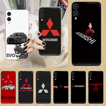 Car brand Mitsubishi EVO Phone Case hull For HUAWEI honor nova v 5 7 8 9 10 20 30 C A X Lite Pro transparent hoesjes trend image