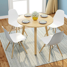 Simple Solid Wood Coffee Table Dining Table for Living Room Kitchen Dining Center Tables Modern Table 80*80cm