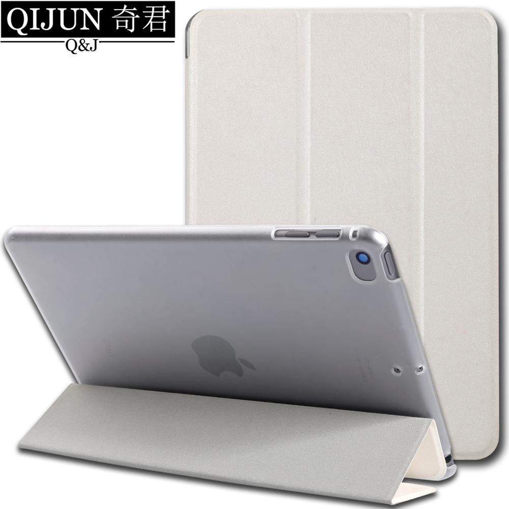 tablet flip case for Apple ipad 9.7 2018 Smart UP wake Sleep leather fundas fold Stand cover Solid bag for ipad6 A1893 A1954