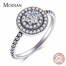 Modian 2021 новые instagram твердый 925 Серебряное кольцо сверкающие
