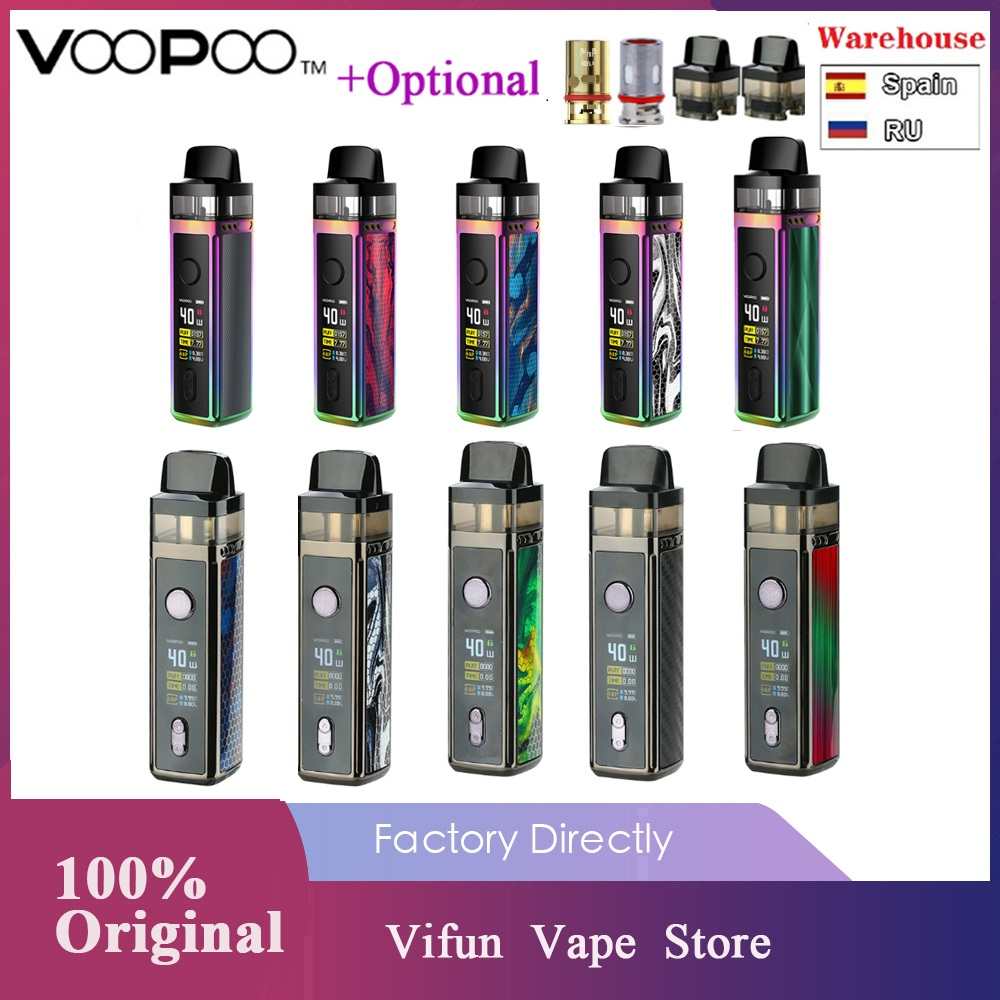 Original VOOPOO VINCI Mod Pod Vape Kit With1500mAh Battery & 5.5ml Pod & 0.96 Inch TFT Color Screen Vape Kit Vs Vinci X / Drag 2