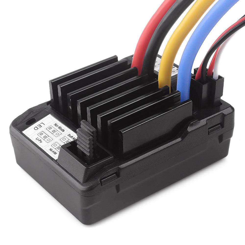 RCtown 60A Brush Electronic Speed Controller Waterproof ESC For 1/10 RC Car