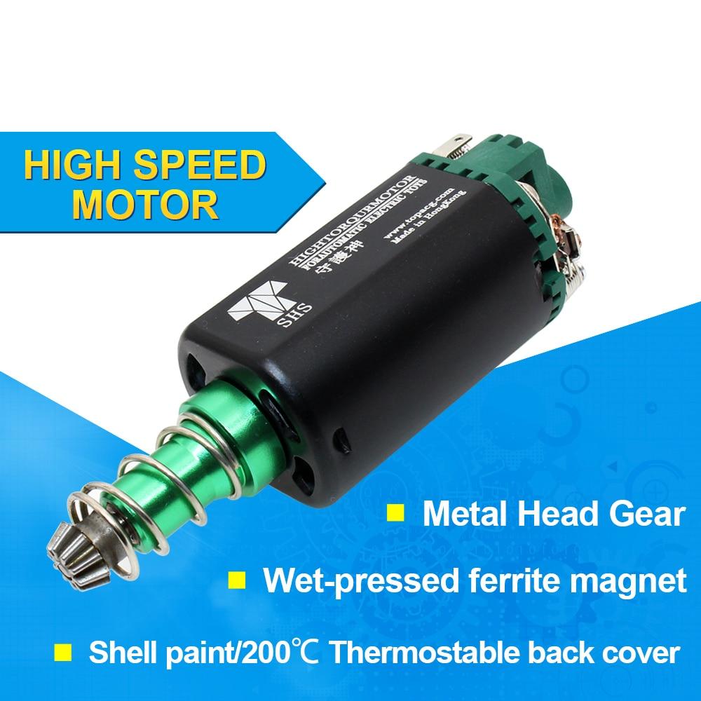 SHS AEG двигатель 11,1 В 38000 высокая скорость вращения двигателя длинная ось для страйкбола M16/M4/MP5/G3/P90 страйкбола AEG мотор