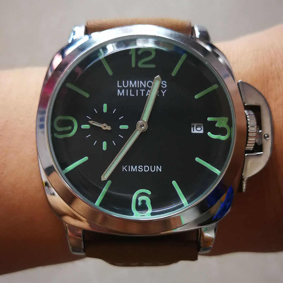 אופנה יוקרה מותג ספורט שעון גברים עמיד למים קוורץ עור צבאי שעון יד גברים צבא שעון זכר relojes hombre hodinky