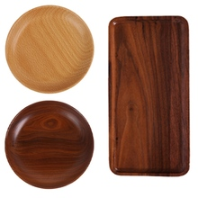 Natural Zebra Wood Modern Simplicity Serving Tray Kung Fu Tea Cutlery Trays Pallet Fruit Dessert Plate Kitchen Supplies tangpin coffee and tea tool copper tea strainers kung fu tea accessories