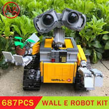 Star Serie Wars Film Compatibel Diy 21303 16003 Idee Robot Wall E Met Motor Blokken Speelgoed Led Light Kit En de Blokken Set(China)