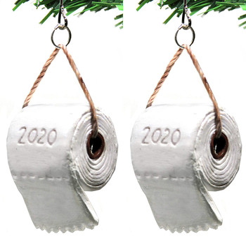 #50 2020 Quarantine Christmas Ornament Christmas Tree Pendant Toilet Paper Crisis Ornament Decoration 2020 Gift Navidad image