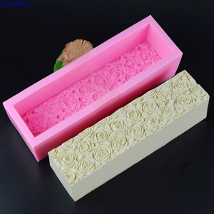 Силиконовая форма для тостов с розами и пчелами, гибкая силиконовая форма для мыла ручной работы, большая форма для мыла, принадлежности для...