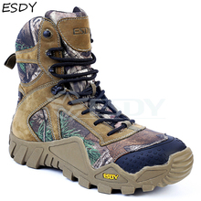 Esdy Men's Winter Boots Men Military Boots Tactical Desert Combat Ankle Boots Army Work Shoes Men Leather Boots Winter Men Shoes military tactical boots desert combat outdoor army hiking travel botas shoes leather autumn ankle men boots winter boots
