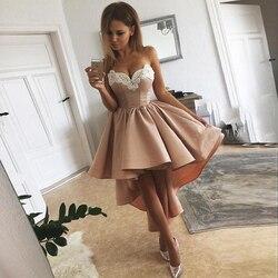 Sevintage Дешевое винтажное женское кружевное коктейльное платье с высоким низом, атласное короткое платье для выпускного вечера, милое вечерн...