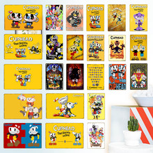 Art Poster YD045 Video Game Funko Pop Cuphead Mugman The Devil Legendary Chalice Retro Metal Tin Signs Home Wall Decoration(China)