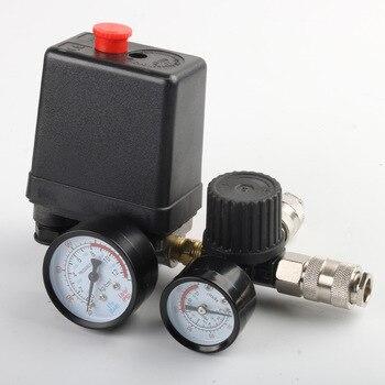 new air compressor pressures switch control valves manifold regulator gauge air compressor pressures switch 40 240V Regulator Duty Air Compressor Pump Pressure Control Switch Air Pump Control Valve 7.25-125 PSI with Gauge