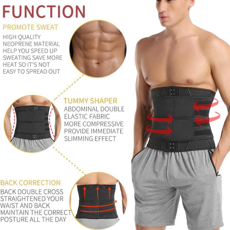男性トレーニングウエストトレーナーおなか痩身シースサウナボディシェイパートリマーベルト腹筋腹部シェイプウェア減量コルセット