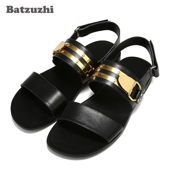 New Arrival Men's Sandal Shoes Designer's Rock Summer Genuine Leather Sandals Men Sandalias Hombre, Big Sizes US6-12, EU38-46