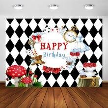 Фон для фотостудии alice in wonderland детский день рождения