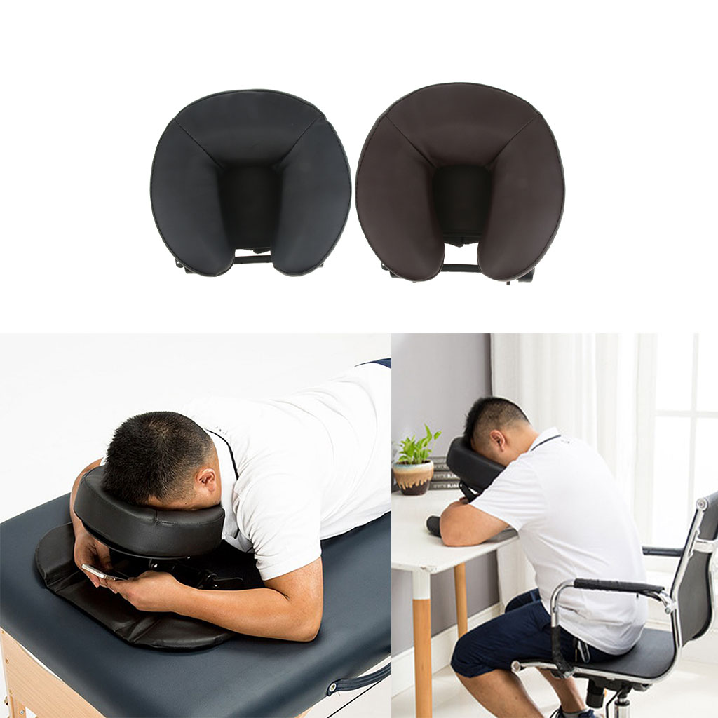 Mousse SPA Massage Table oreiller U forme traversin Face vers le bas berceau sieste coussin de couchage pour bureau école voyage Salon