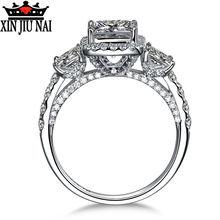 925 пробы Серебряное роскошное женское кольцо с полными и микро