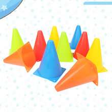 20 Pcs 18CM Marker Cones Strong Toughness Horn Cones Sign Barrel Skating Flat Base Cone Football Obstacle for Indoor Outdoor Tra(China)