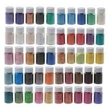 50 Kleuren Pigmenten Brilliant Mica Poeder Kit Epoxyhars Kleurstof Make Bad Bom Zeep Kaars Maken Poeder Pigment Kit Dropship