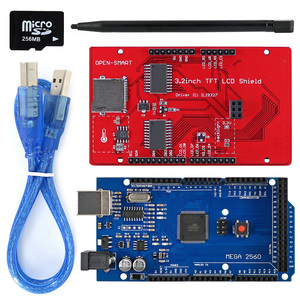 Image 2 - 3.2 inch TFT LCD Display module Touch Screen Shield Kit onboard temperature sensor + Touch Pen / TF card /Mega2560 for Arduino
