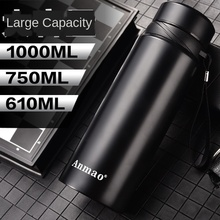 610ml-1000ml Large Capacity Vacuum 304 Insulated Stainless Steel Bottle Outdoor Portable Sports Cup russian large capacity insulated stainless steel bottle outdoor portable travel kettle car kettle