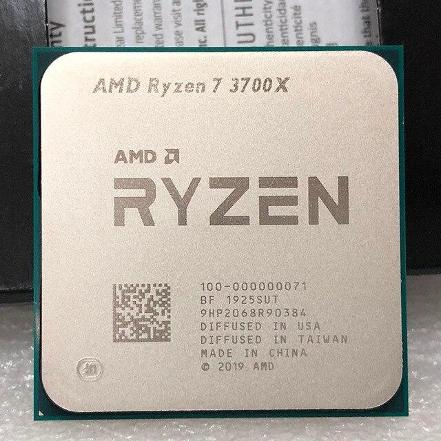 AMD procesador de CPU AMD Ryzen 7 3700X R7 3700X, 3,6 GHz, ocho núcleos, rosca Sinteen, 65W, 7NM, L3 = 32M, 100 000000071, Socket AM4