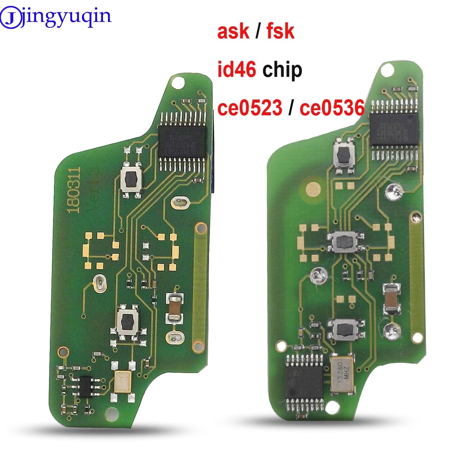 Пульт дистанционного управления jingyuqin ASK/FSK для Peugeot 207 307 308 407 607 807, для Citroen C2 C3 C4 C5 C6 CE523 CE536 7941 7946 Id46