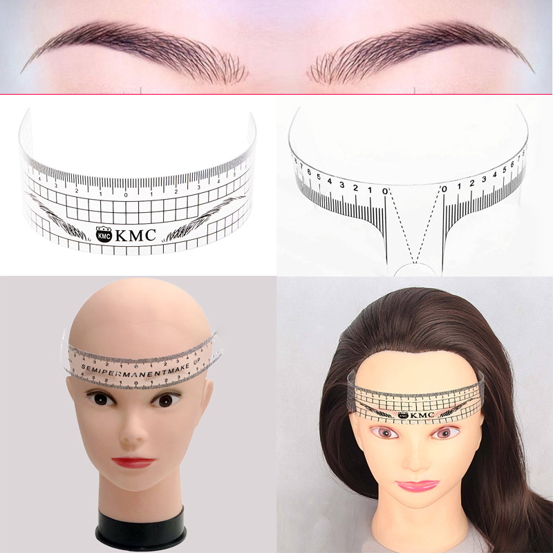 6 Styles Reusable Eyebrow Rulers Tool Measures Microblading Semi Permanent Make Up Eyebrow Tattoo Position Guide Ruler Stencil