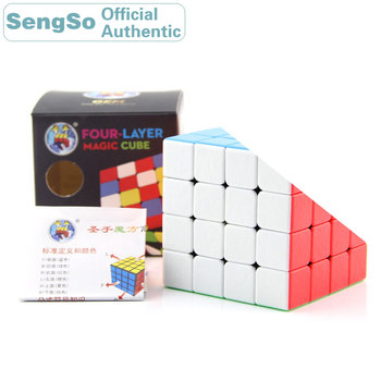 ShengShou Gem 4x4x4 Magic Cube 4x4 Cubo Magico Professional Neo Speed Cube Puzzle Antistress Toys For Children