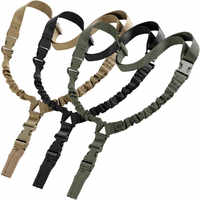 1 Pcs Nylon Adjustable Tactical Single Point Bungee Rifle Gun Airsoft Air Rifle Sling Hunting Gun Strap Shooting Accessories