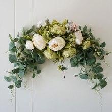 Wedding Decoration Flowers Peony Backdrop Handmade Swag Table Runner Centerpiece Garland Hanging Wreath Home Decor